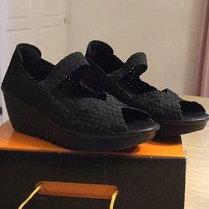 NWOT bernie mev. L.A.S. Comfort Shoes BLACK, Sz 9